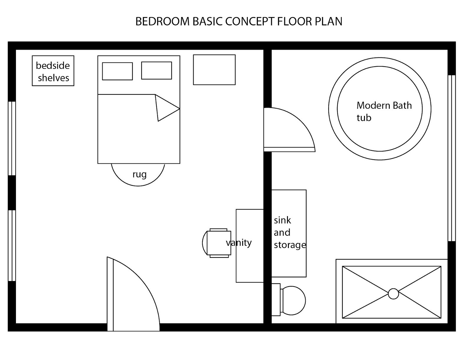 Best ideas about Bedroom Floor Plan . Save or Pin INTERIOR DESIGN & DECOR MODERN BEDROOM BASIC FLOOR PLAN Now.