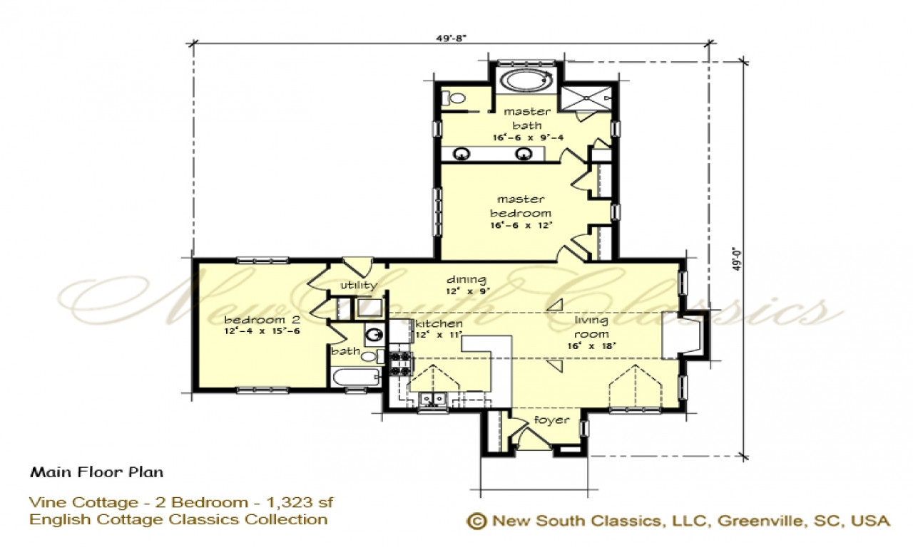 Best ideas about Bedroom Floor Plan . Save or Pin 2 Bedroom House Plans with Open Floor Plan 2 Bedroom Now.