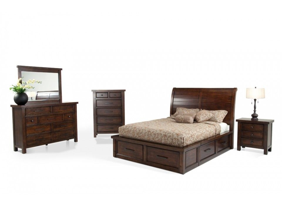 Best ideas about Bedroom Furniture Discounts . Save or Pin Hudson 8 Piece Queen Storage Bedroom Set Now.