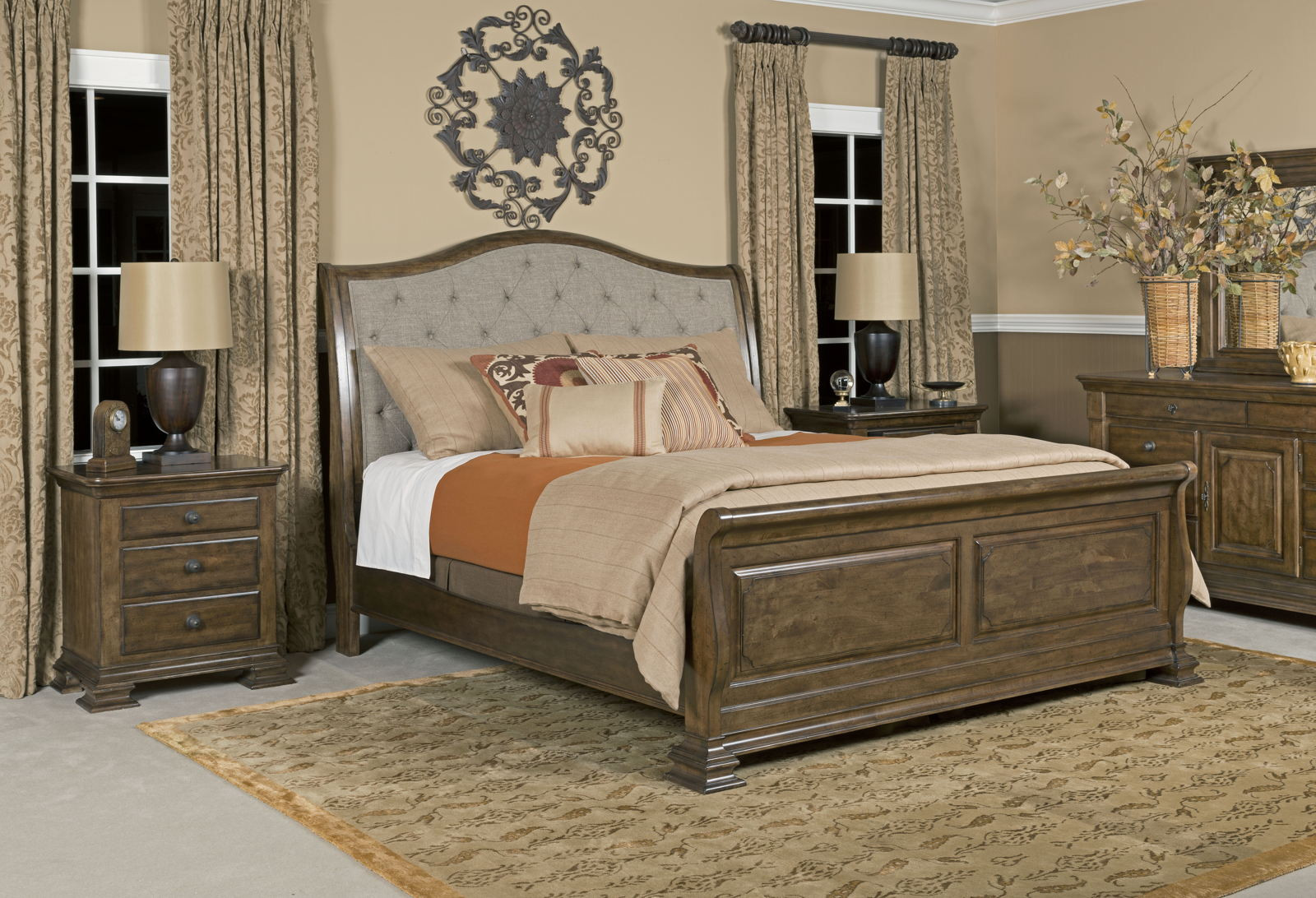 Best ideas about Bedroom Furniture Discounts . Save or Pin Kincaid Portolone Sleigh Bedroom Set in Rich Truffle CODE Now.