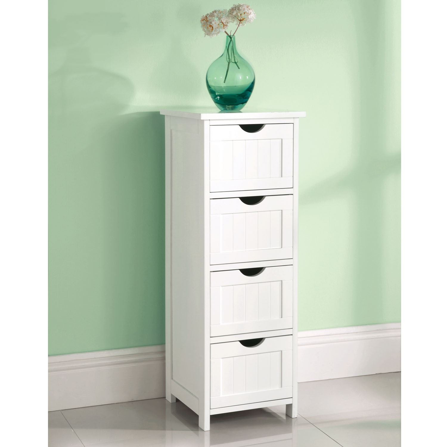 Best ideas about Bedroom Storage Cabinets . Save or Pin White Wooden 1 Drawer Bathroom Bedroom Cabinet Shelving Now.