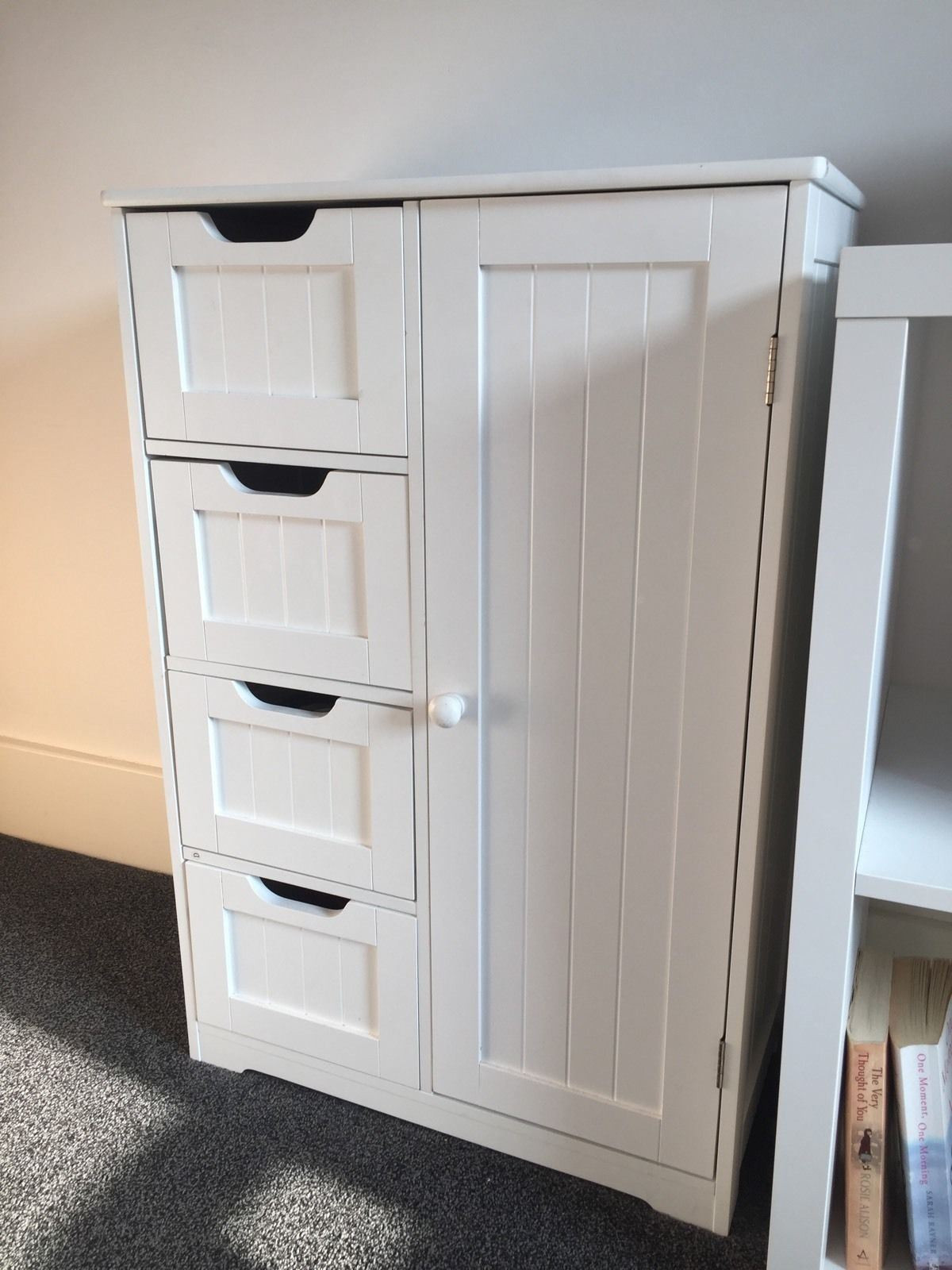 Best ideas about Bedroom Storage Cabinets . Save or Pin New White Wooden Bathroom Cabinet Shelf Furniture Cupboard Now.