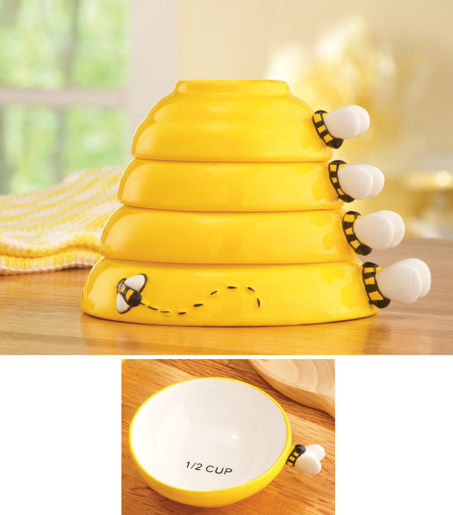 Best ideas about Bee Kitchen Decor . Save or Pin 4 Piece Bumblebee Beehive Bee Measuring Cups Cooking Now.