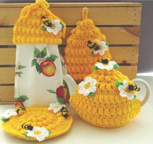 Best ideas about Bee Kitchen Decor . Save or Pin Honey Bee Kitchen Set Crochet Pattern – Maggie s Crochet Now.