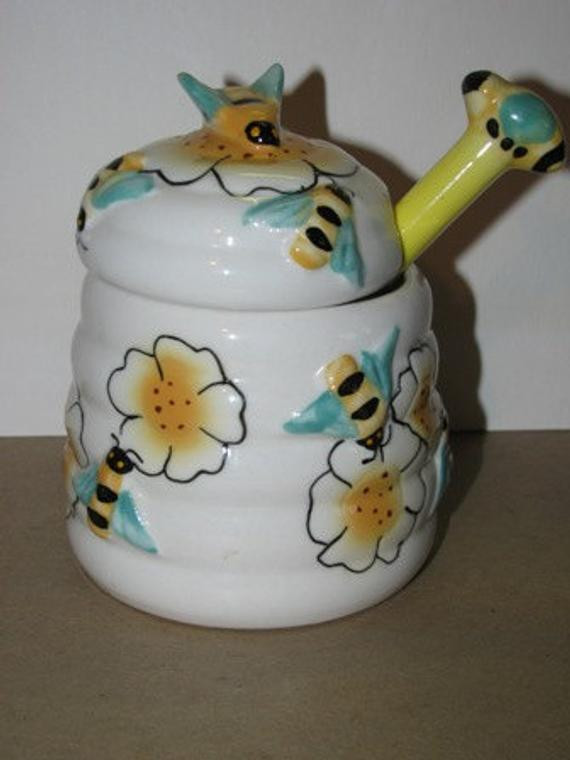 Best ideas about Bee Kitchen Decor . Save or Pin Items similar to Vintage style Bumble Bee Honey Jar Bees Now.