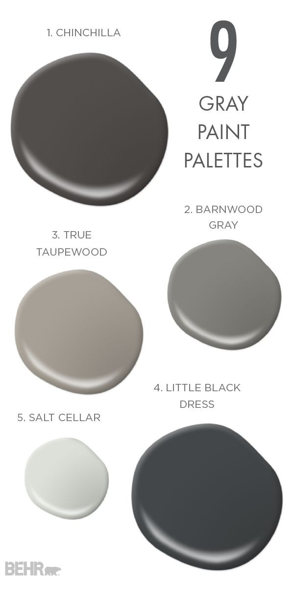 Best ideas about Behr Paint Colors Gray . Save or Pin 109 best Gray and Black Rooms images on Pinterest Now.