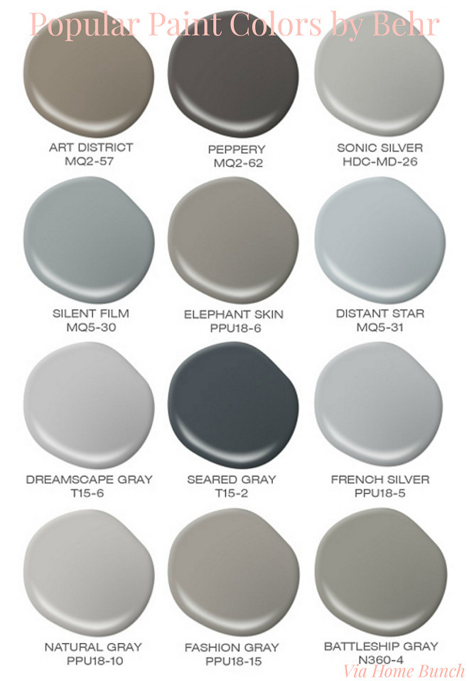 Best ideas about Behr Paint Colors Gray . Save or Pin Interior Design Ideas Home Bunch Interior Design Ideas Now.