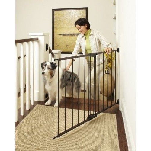 Best ideas about Best Gate For Top Of Stairs . Save or Pin Dog Easy Swing Gate top of Stairs Wide Self Lock Pet Baby Now.
