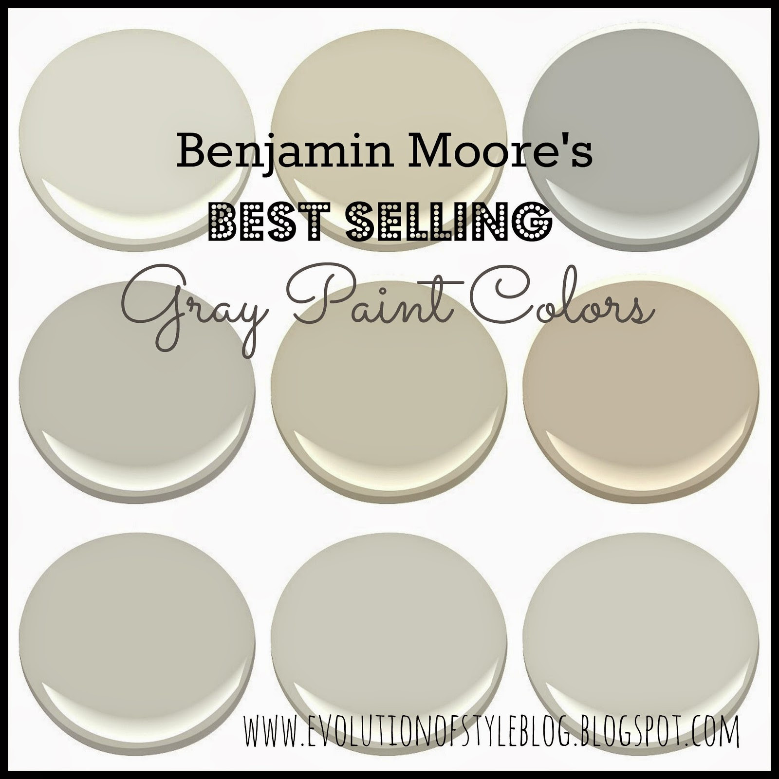 Best ideas about Best Gray Paint Colors Benjamin Moore . Save or Pin Benjamin Moore s Best Selling Grays Evolution of Style Now.