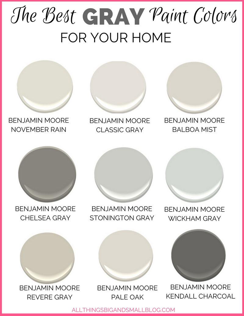 Best ideas about Best Gray Paint Colors . Save or Pin Gray Paint Colors for Your Home Best Benjamin Moore Now.