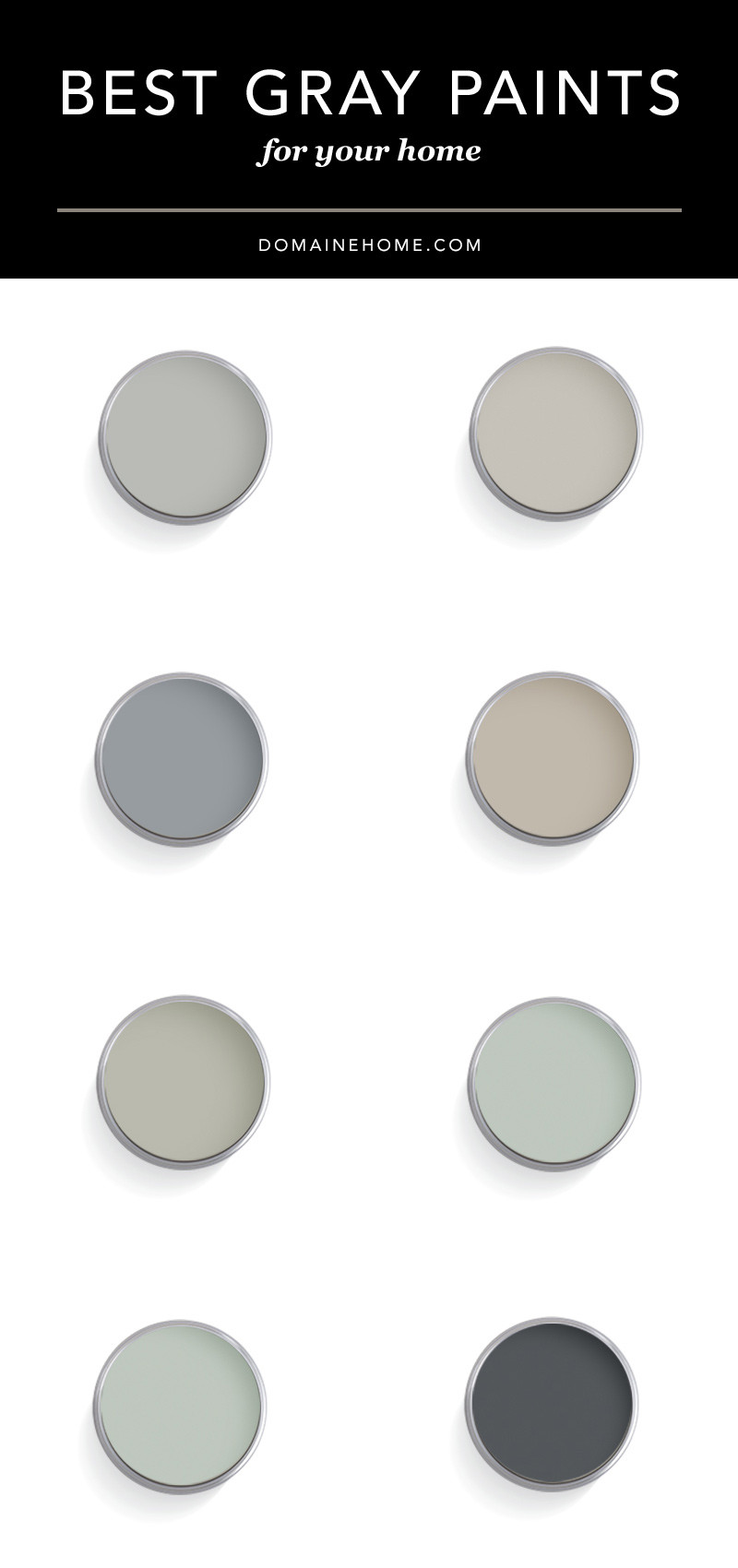 Best ideas about Best Gray Paint Colors . Save or Pin Ultimate guide to the best designer approved gray paint Now.