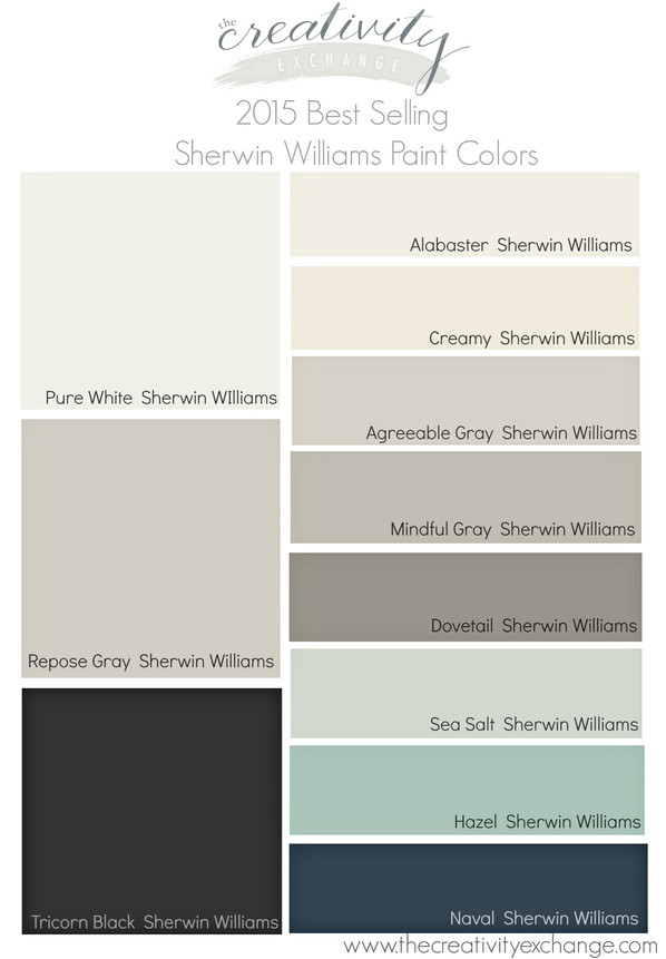 Best ideas about Best Gray Paint Colors Sherwin Williams . Save or Pin 2015 Best Selling and Most Popular Paint Colors Sherwin Now.