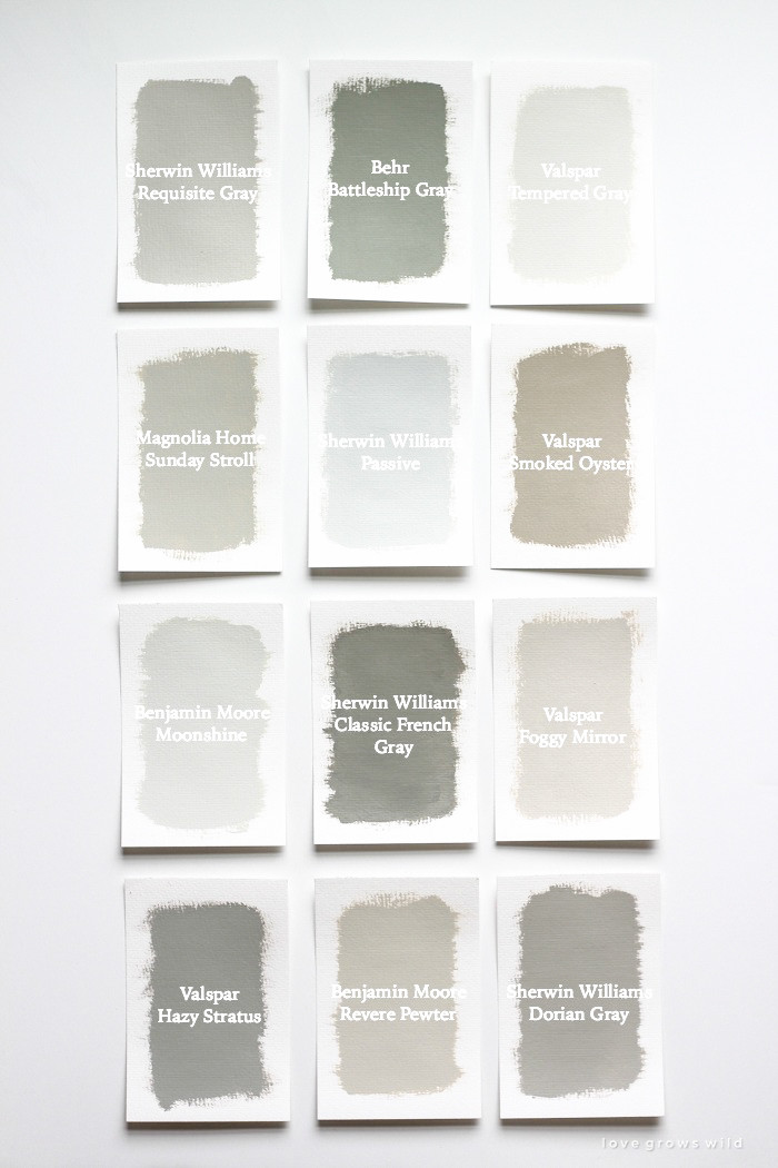 Best ideas about Best Gray Paint Colors . Save or Pin Favorite Gray Paint Colors Love Grows Wild Now.