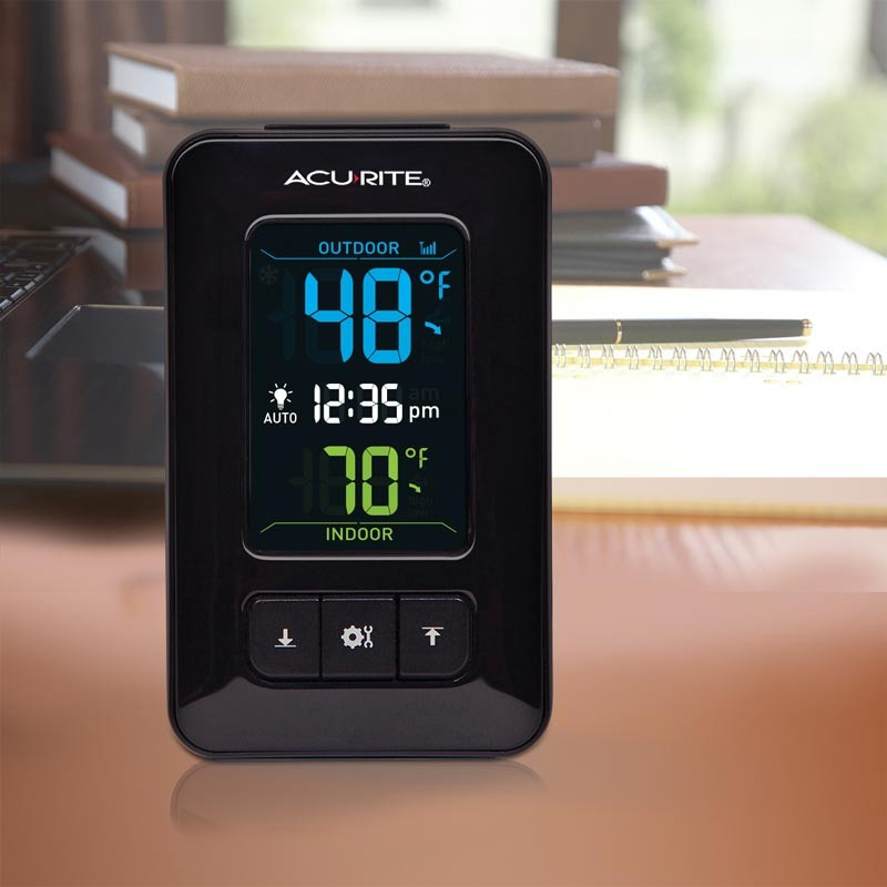 Best ideas about Best Indoor Outdoor Thermometer . Save or Pin AcuRite Color Digital Indoor Outdoor Thermometer with Clock Now.