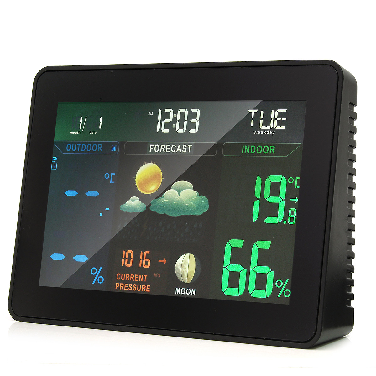 Best ideas about Best Indoor Outdoor Thermometer . Save or Pin Wireless Colorful Wireless Weather Station Forecast Indoor Now.
