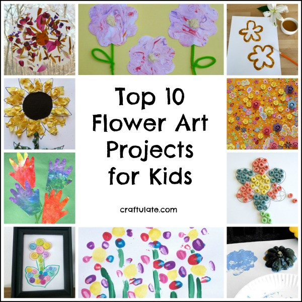 Best ideas about Best Kids Art . Save or Pin Top 10 Flower Art Projects for Kids Craftulate Now.