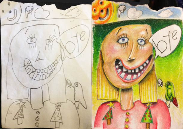 Best ideas about Best Kids Art . Save or Pin Father Turns His Kid s Doodles Into Awesome & Beautiful Now.