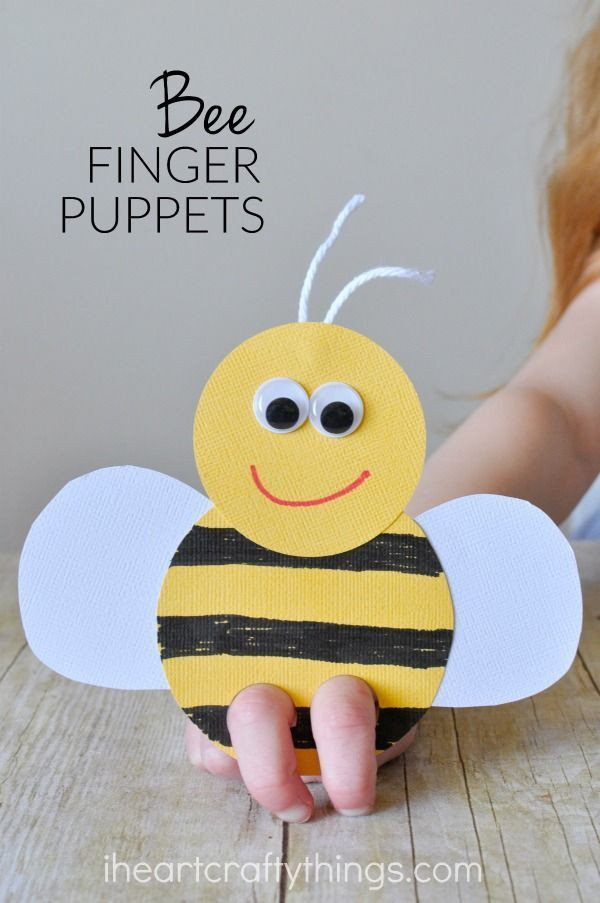 Best ideas about Best Kids Craft . Save or Pin Incredibly Cute Bee Finger Puppets Craft Now.