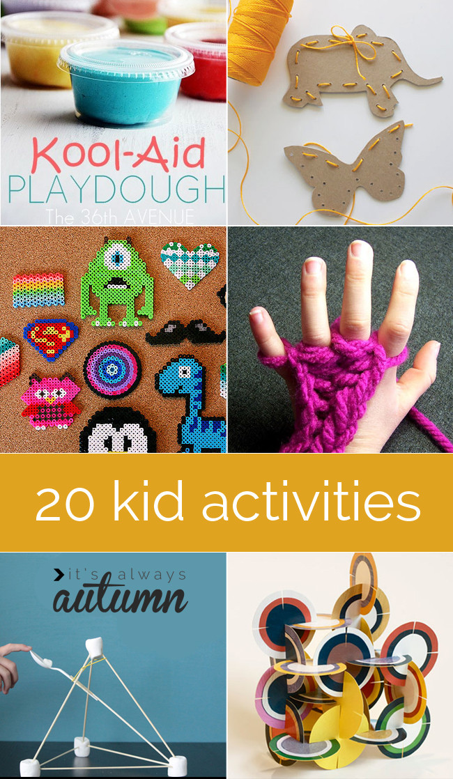 Best ideas about Best Kids Craft . Save or Pin 20 best indoor kid crafts and activities Now.