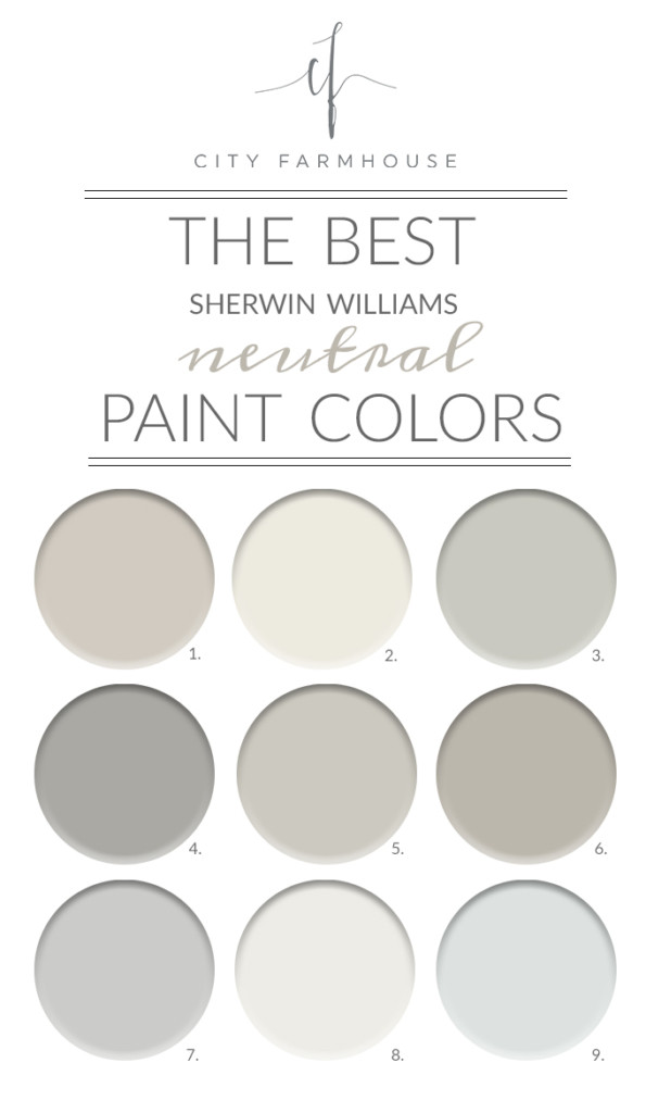 Best ideas about Best Neutral Paint Colors . Save or Pin The Best Sherwin Williams Neutral Paint Colors Now.