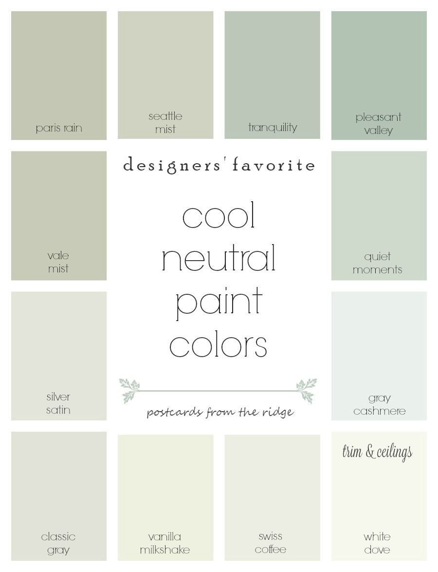 Best ideas about Best Neutral Paint Colors . Save or Pin Designers Favorite Cool Neutral Paint Colors Now.