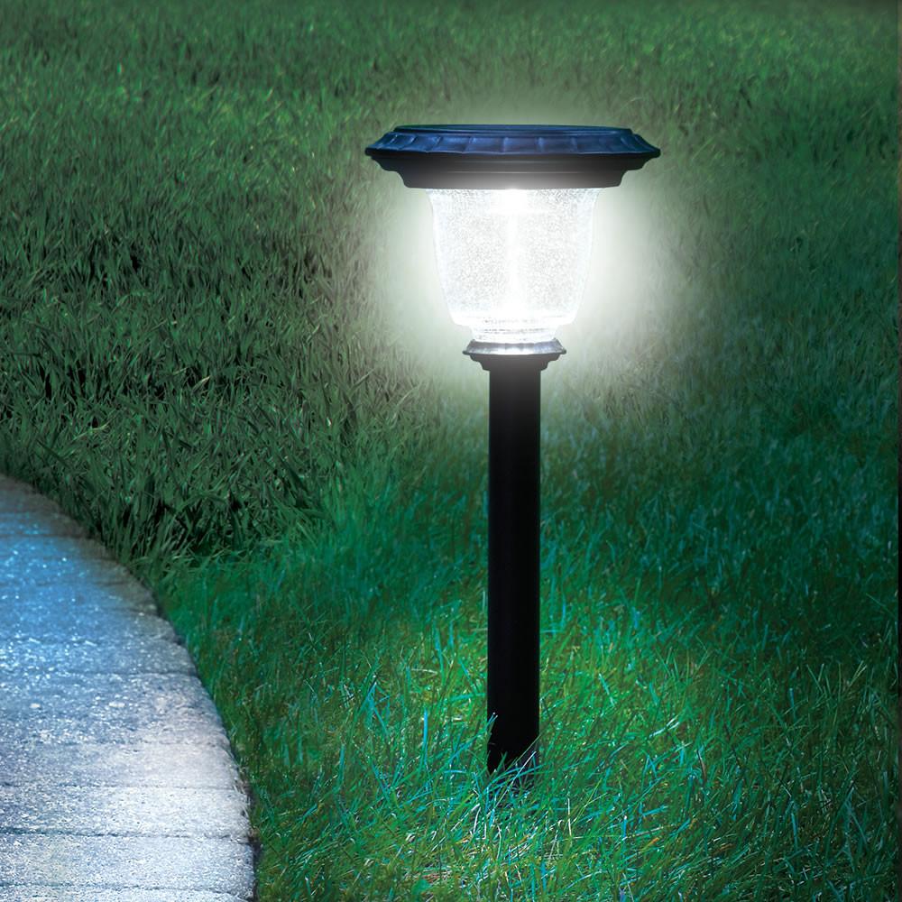 Best ideas about Best Solar Landscape Lights . Save or Pin The Best Solar Walkway Light Hammacher Schlemmer Now.