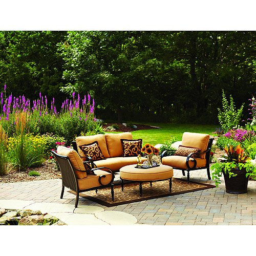 Best ideas about Better Homes And Gardens Patio Cushions . Save or Pin Better Homes and Gardens Englewood Heights 4 Piece Outdoor Now.