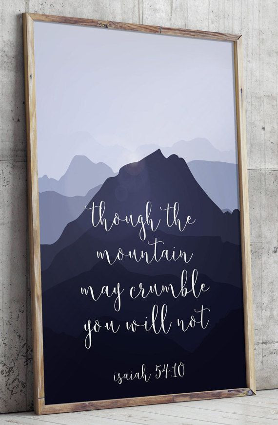 Best ideas about Bible Verse Wall Art . Save or Pin Printable verses Isaiah 54 10 Scripture Art print Now.