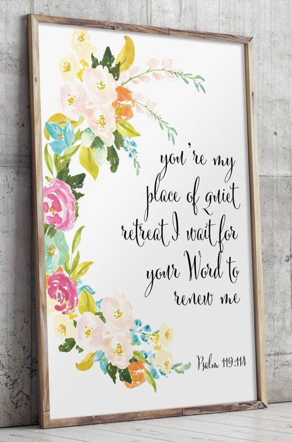 Best ideas about Bible Verse Wall Art . Save or Pin Bible verse art floral Christian wall decor Scripture wall Now.