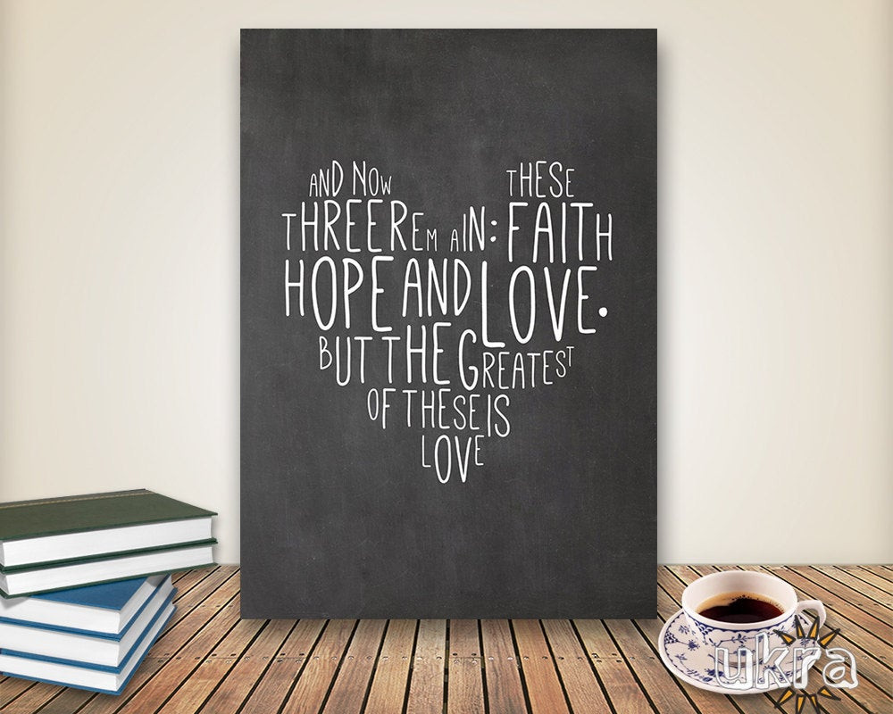 Best ideas about Bible Verse Wall Art . Save or Pin Chalkboard Art Bible Verse Wall ArtPrintable Scripture Print Now.