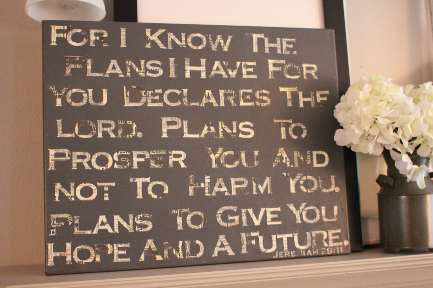 Best ideas about Bible Verse Wall Art . Save or Pin Bible Verse Canvas Wall Decor by SoVintageChic on Etsy Now.