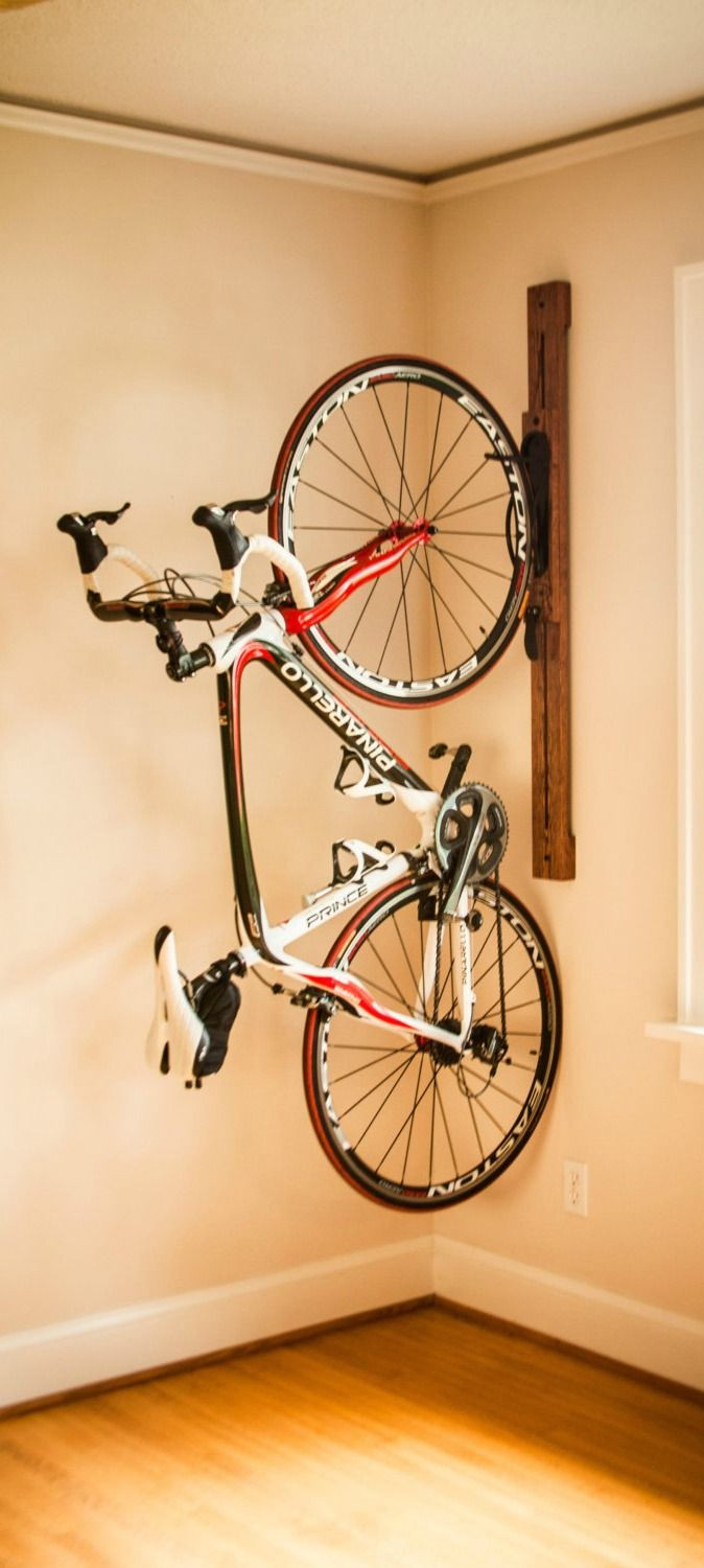 Best ideas about Bike Rack Wall Mounted Vertical . Save or Pin Best 25 Vertical Bike Rack ideas on Pinterest Now.