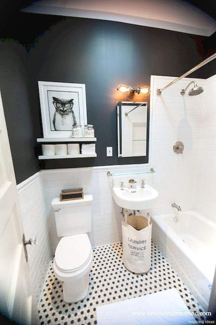 Best ideas about Black And White Bathroom Decor . Save or Pin Best 25 Black white bathrooms ideas on Pinterest Now.