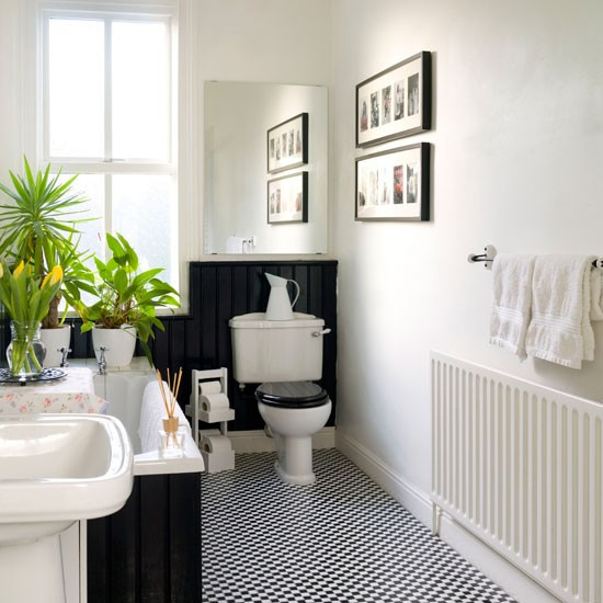 Best ideas about Black And White Bathroom Decor . Save or Pin Black and white bathroom Bathroom design Now.