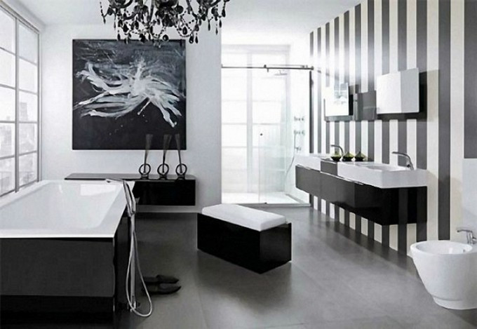 Best ideas about Black And White Bathroom Decor . Save or Pin Black Bathroom Design Ideas To Be Inspired Now.