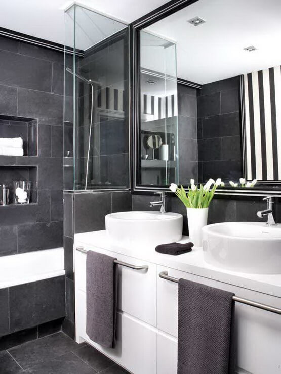 Best ideas about Black And White Bathroom Decor . Save or Pin How to master the black bathroom trend Pivotech Now.