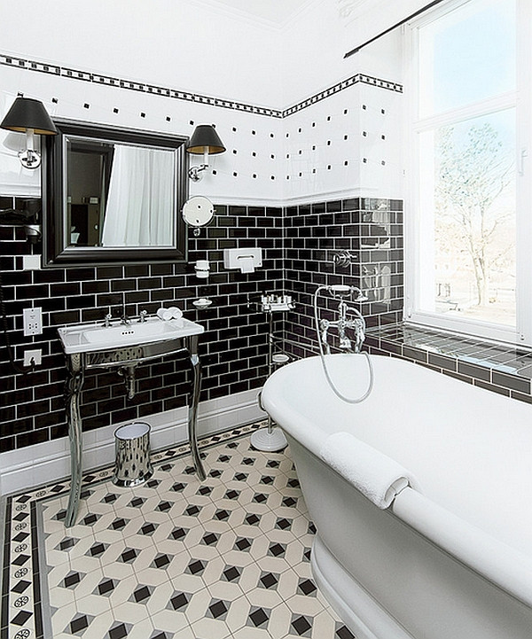 Best ideas about Black And White Bathroom Decor . Save or Pin Black And White Bathrooms Design Ideas Decor And Accessories Now.