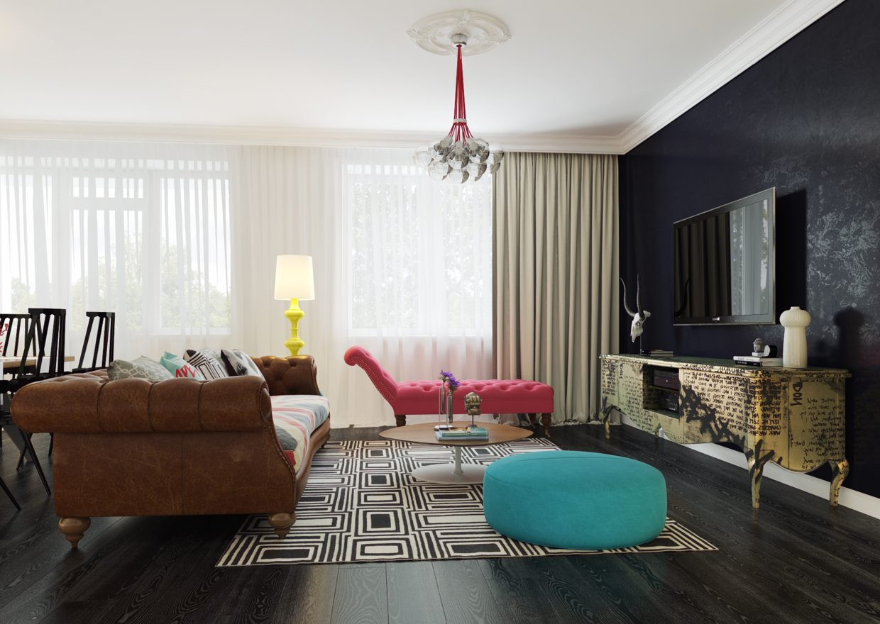 Best ideas about Blue Accent Wall Living Room . Save or Pin How To Use Dark Walls in Every Room of the House Now.
