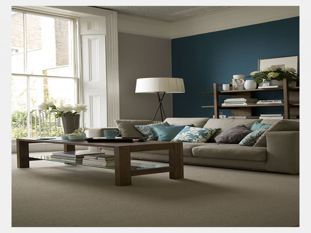 Best ideas about Blue Accent Wall Living Room . Save or Pin Peacock bedrooms yellow grey teal accents grey with blue Now.