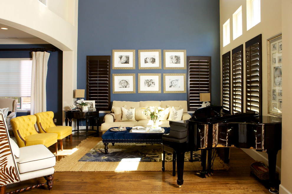 Best ideas about Blue Accent Wall Living Room . Save or Pin 20 Blue and Brown Living Room Designs Decorating Ideas Now.