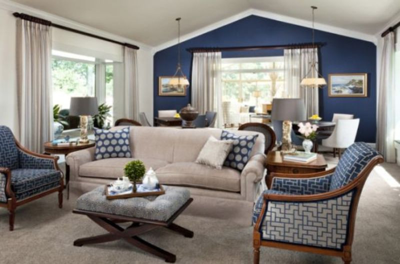 Best ideas about Blue Accent Wall Living Room . Save or Pin Architecture Decor & Interior Decorating Now.