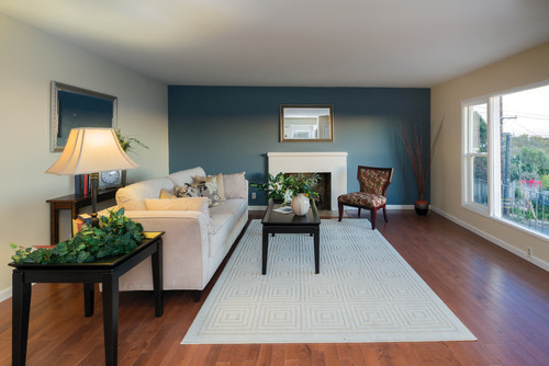 Best ideas about Blue Accent Wall Living Room . Save or Pin Easy Home Painting Ideas To Increase Resale Value Now.
