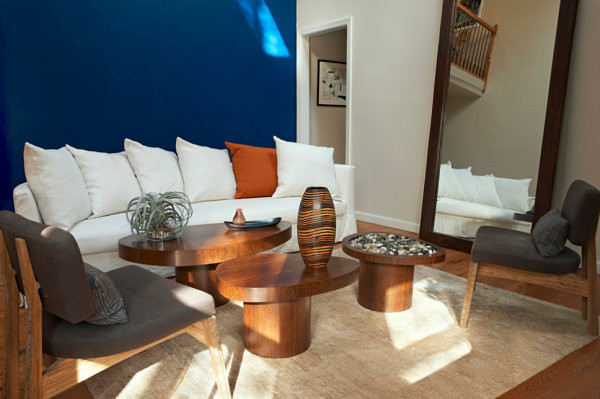 Best ideas about Blue Accent Wall Living Room . Save or Pin 5 Easy Living Room Makeover Ideas Now.