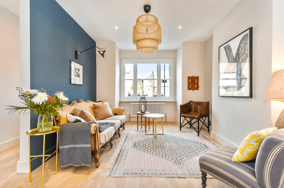 Best ideas about Blue Accent Wall Living Room . Save or Pin 16 Living Rooms With Accent Walls Now.