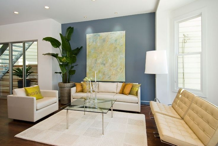 Best ideas about Blue Accent Wall Living Room . Save or Pin blue accent wall in living room Now.