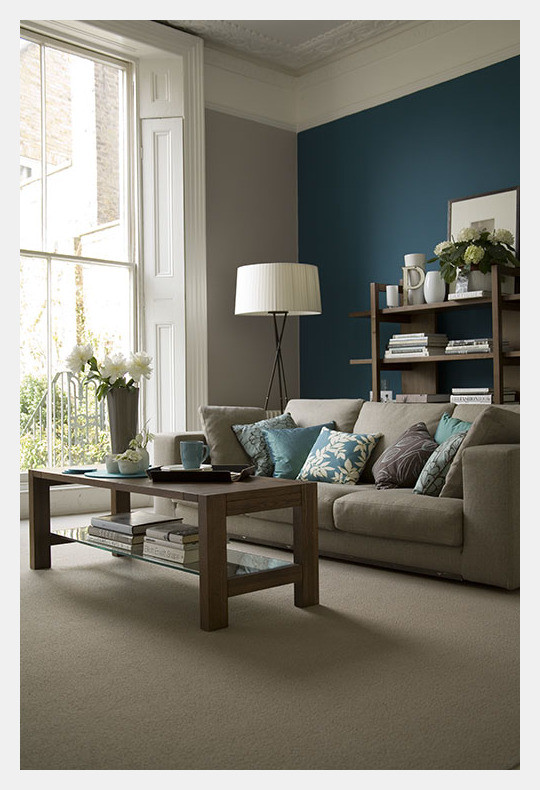 Best ideas about Blue Accent Wall Living Room . Save or Pin Estilo Home Blue Accent Walls Now.
