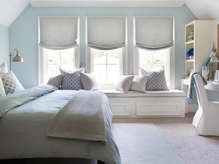 Best ideas about Blue And Grey Bedroom . Save or Pin Blue Bedroom with Gray Nightstand Transitional Bedroom Now.