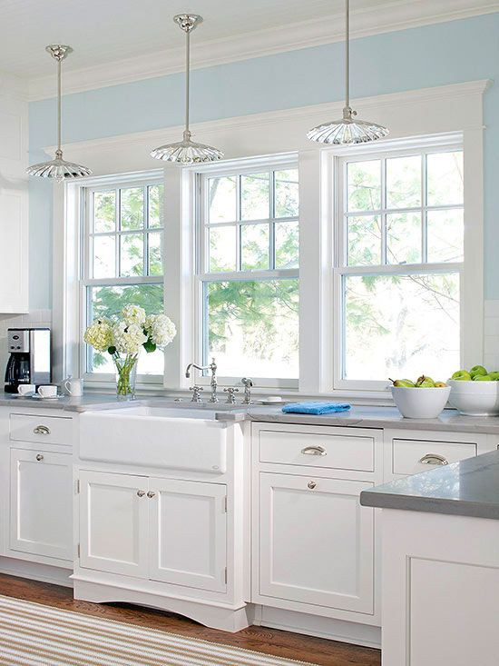 Best ideas about Blue And White Kitchen Decor . Save or Pin White Kitchen Decor Ideas House design Now.