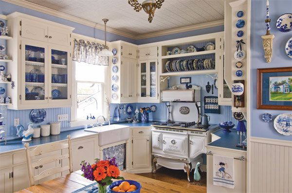 Best ideas about Blue And White Kitchen Decor . Save or Pin C Dianne Zweig Kitsch n Stuff September 2011 Now.