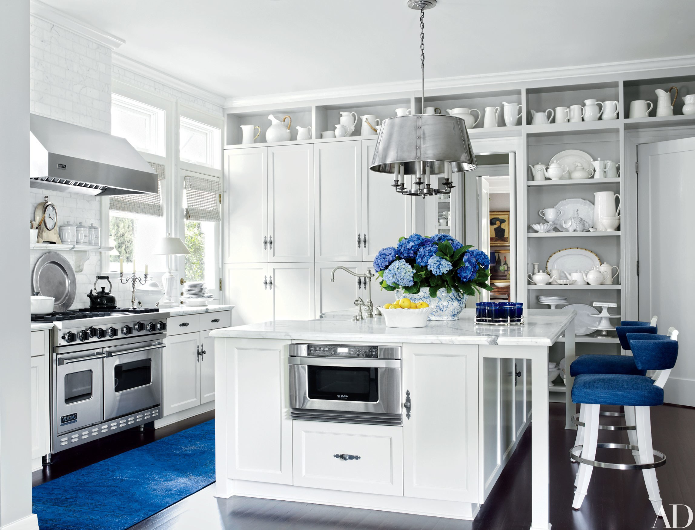 Best ideas about Blue And White Kitchen Decor . Save or Pin 30 Rooms That Showcase Blue and White Decor s Now.